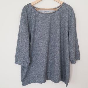 Lane Bryant gray chain collar sweatshirt 26/28